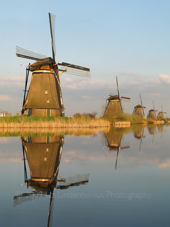 Windmills at the Kinderdijk, Holland