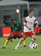 SZCZECIN 11/08/2010.FOOTBALL INTERNATIONAL FRIENDLY.POLAND v CAMEROON.LUDOVIC OBRANIAC /POL/.Fot: Piotr Hawalej / WROFOTO