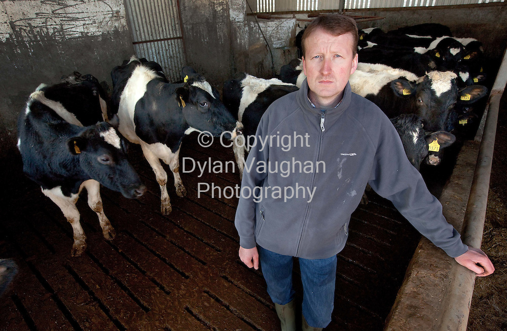 14/1/2010.Dan Brennan pictured on his farm in Dromgoole, Castlecomer, County Kilkenny..Picture Dylan Vaughan