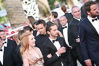 Jessica Chastain, Shia Labeouf, Jason Clarke, attend the gala screening of Lawless at the 65th Cannes Film Festival. The screenplay for the film Lawless was written by Nick Cave and Directed by John Hillcoat. Saturday 19th May 2012 in Cannes Film Festival, France.