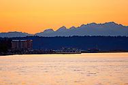 sunset view from Tacoma, WA