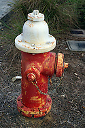 Hydrant red and white