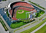 Aerial view of Kansas City Royals Kauffman Stadium