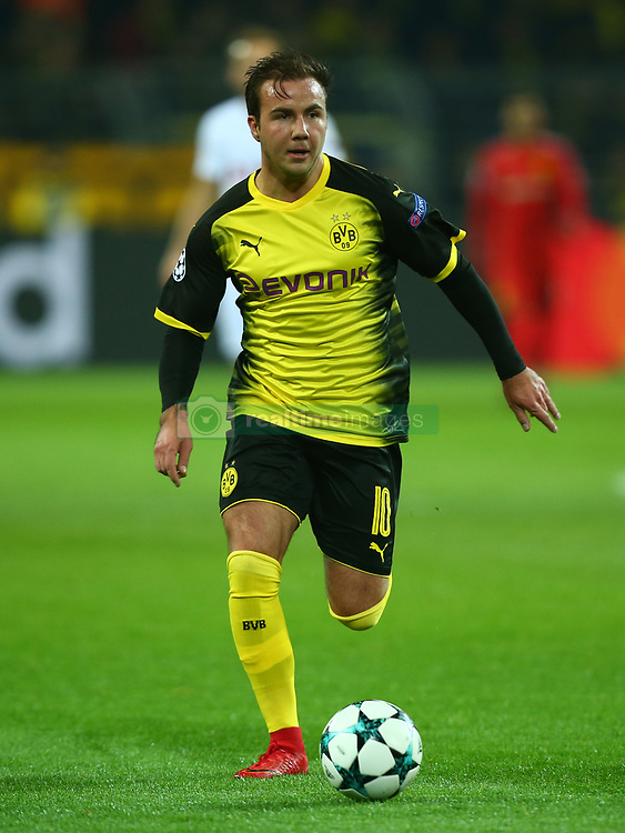 November 21, 2017 - Dortmund, Germany - Mario Gotze of Borussia Dortmund  during UEFA Champion  League Group H Borussia Dortmund between Tottenham Hotspur played at Westfalenstadion, Dortmund, Germany 21 Nov 2017  (Credit Image: © Kieran Galvin/NurPhoto via ZUMA Press)