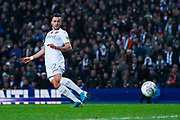 Leeds United midfielder Jack Harrison (22) scores a goal to make the score 2-0 during the EFL Sky Bet Championship match between Leeds United and Blackburn Rovers at Elland Road, Leeds, England on 9 November 2019.