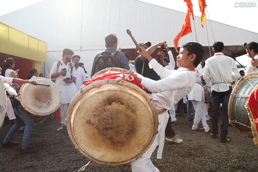 Cultural activities during Maha Kumbha Mela festival, Nashik, INDIA.