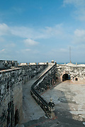 San Fernando de Bocachica courtyard (Spanish fort-1753), Tierrabomba island,  Cartagena de Indias, Bolivar Department,, Colombia, South America.