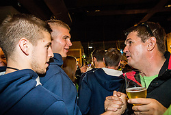 Aleksej Nikolic of Slovenia, Edo Muric of Slovenia at Fans' reception of Team Slovenia after the basketball match between National Teams of Slovenia and Greece at Day 4 of the FIBA EuroBasket 2017  in Teerenpeli bar, Helsinki, Finland on September 3, 2017. Photo by Vid Ponikvar / Sportida