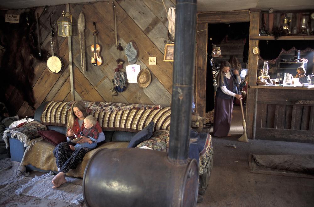 Homestead.The Pilgrim Family.Alaska.USA