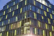 Germany. Berlin. building with lighting. Mitte  area  / immeuble illumine. quartier de Mitte   Berlin - Allemagne / BERLIN135a