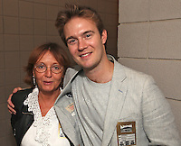 Audrey Hoare, NR Head of Fundraising and Tom Rutherford (Rockwell Concert Producer)