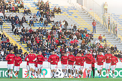 the players of Morocco during the warming up during the international friendly match between Morocco and Uzbekistan at the Stade Mohammed V on March 27, 2018 in Casablanca, Morocco