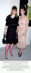 Left to right, MISS DAISY DE VILLENEUVE and her sister MISS POPPY DE VILLENEUVE, at a party in London on 5th April 2003.PIR 32