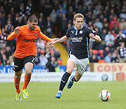 Dundee's Greg Stewart goes away from Dundee United's Nadir Çiftçi - Dundee United v Dundee at Tannadice Park in the SPFL Premiership<br /> <br />  - © David Young - www.davidyoungphoto.co.uk - email: davidyoungphoto@gmail.com