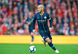 LIVERPOOL, ENGLAND - Sunday, October 7, 2018: Manchester City's David Silva during the FA Premier League match between Liverpool FC and Manchester City FC at Anfield. (Pic by David Rawcliffe/Propaganda)