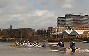 Putney, London, ENGLAND, 28.03.2006, 2006, Boat Race, Oxford paddle along the Palace Wharf, during their morning training session on the River Thames during Varsity Tideway Week, Tuesday,  © Peter Spurrier/Intersport-images.com.[Mandatory Credit Peter Spurrier/ Intersport Images] Varsity, Boat race. Rowing Course: River Thames, Championship course, Putney to Mortlake 4.25 Miles