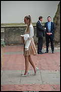 AMBER LE BON, Memorial service for Mark Shand.  . St. Paul's Knightsbridge. September 11 2014.