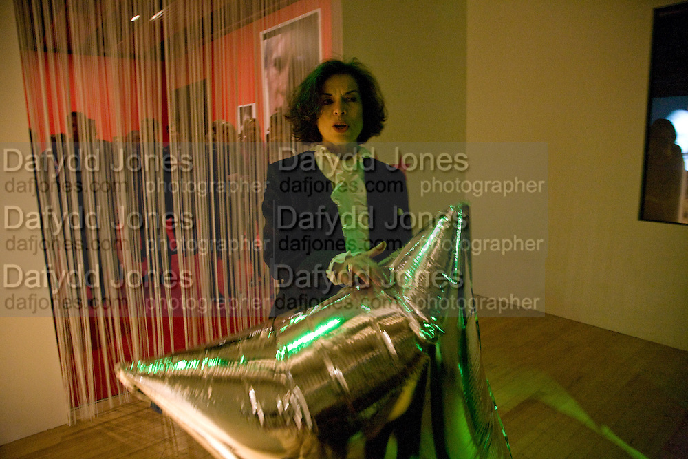 Bianca Jagger, ANDY WARHOL: OTHER VOICES, OTHER. ROOMS.  The Hayward Gallery. Southbank. 6 October 2008 *** Local Caption *** -DO NOT ARCHIVE-© Copyright Photograph by Dafydd Jones. 248 Clapham Rd. London SW9 0PZ. Tel 0207 820 0771. www.dafjones.com.