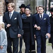 NLD/Delft/20131102 - Herdenkingsdienst voor de overleden prins Friso, prins Constantijn en partner prinses Laurentien