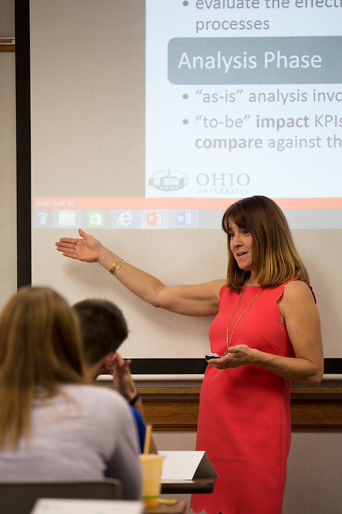 Lori Marchese teaches her class on September 24, 2015 in Copeland Hall. Photo by Emily Matthews