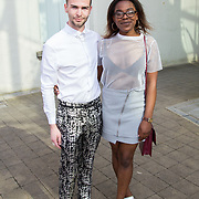 11.05. 2017.                                                 <br /> Over 20 leading Irish and international fashion media and influencers converged on Limerick for 24 hours on, Thursday, 11th May for a showcase of Limerick's fashion industry, culminating with Limerick School of Art & Design, LIT, presenting the LSAD 360° Fashion Show, sponsored by AIB.<br /> Pictured at the event were, Ciaran Aloysius, Tullamore Co. orally and Eva Kimpwene, Castlebar Co. Mayo. Picture: Alan Place