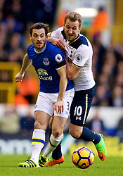 LONDON, ENGLAND - Sunday, March 5, 2017: Everton's Leighton Baines in action against Tottenham Hotspur's Harry Kane during the FA Premier League match at White Hart Lane. (Pic by David Rawcliffe/Propaganda)