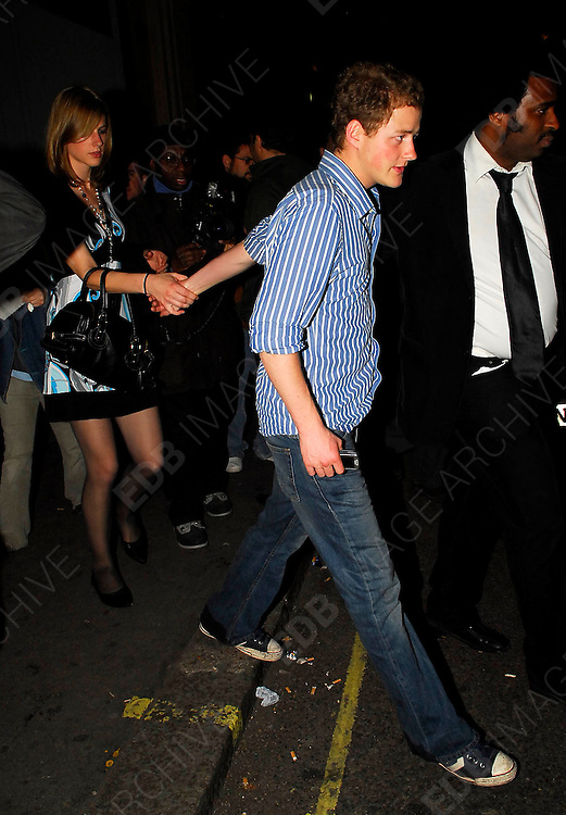 27.04.2007. LONDON<br /> <br /> WILLIAM, HARRY AND CHELSY DAVY LEAVING MAHIKI CLUB <br /> <br /> BYLINE: EDBIMAGEARCHIVE.CO.UK<br /> <br /> *THIS IMAGE IS STRICTLY FOR UK NEWSPAPERS AND MAGAZINES ONLY*<br /> *FOR WORLD WIDE SALES AND WEB USE PLEASE CONTACT EDBIMAGEARCHIVE.CO.UK - 0208 954 5968*