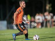 Jonathan Witt (Hillerød) under kampen i 2. Division mellem Hillerød Fodbold og FC Helsingør den 21. august 2019 på Hillerød Stadion (Foto: Claus Birch).