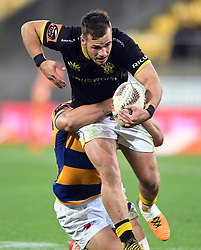 Wellington's Wes Goosen against Bay of Plenty in the Mitre 10 Rugby Final  Championship match at Westpac Stadium, Wellington, New Zealand, Friday, October 27, 2017. Credit:SNPA / Ross Setford  **NO ARCHIVING**