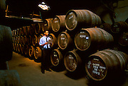 PORTUGAL, DOURO, PORTO barrels of Port Wine in the cellars