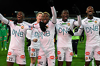 Fotball , 1. desember 2019 , Eliteserien , Kristiansund - Strømsgodset l , Moses Mawa 10 , Jakob Glesnes , Duplexe Tchamba 4 , Prosper Mendy 22 , Jack Ipalibo 42