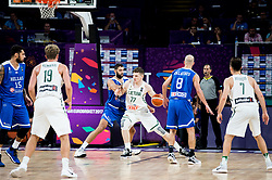 Arturas Gudaitis of Lithuania vs Ioannis Bourousis of Greece during basketball match between National Teams of Lithuania and Greece at Day 10 in Round of 16 of the FIBA EuroBasket 2017 at Sinan Erdem Dome in Istanbul, Turkey on September 9, 2017. Photo by Vid Ponikvar / Sportida