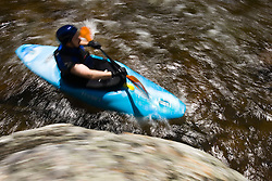 Kayaking the Ashuelot River in Surry, NH.  A tributary of the Connecticut River.