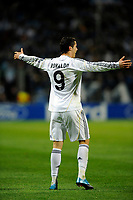 FOOTBALL - UEFA CHAMPIONS LEAGUE 2009/2010 - GROUP C - OLYMPIQUE MARSEILLE v REAL MADRID - 8/12/2009 - PHOTO FRANCK FAUGERE / DPPI - JOY CRISTIANO RONALDO (REAL) AFTER HIS GOAL