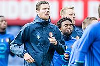 ROTTERDAM - Laatste training voor de Klassieker van Feyenoord , Voetbal , Eredivisie , Seizoen 2016/2017 , Stadion de Kuip , 22-10-2016 , Michiel Kramer tijdens de training