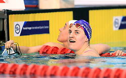 Charlotte Atkinson celebrates winning the Women's Open 200m Butterfly during day three of the 2017 British Swimming Championships at Ponds Forge, Sheffield.