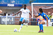 Crawley Town forward Beryly Lubala in possession of the ball during the EFL Sky Bet League 2 match between Macclesfield Town and Crawley Town at Moss Rose, Macclesfield, United Kingdom on 7 September 2019.