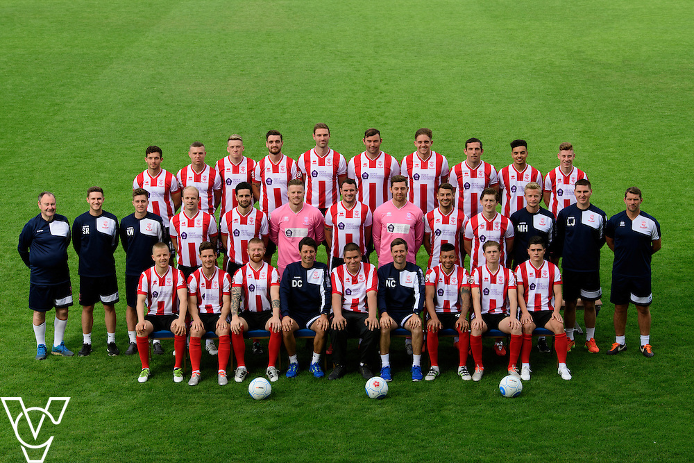 Lincoln City team photograph 2016/17 season (home kit).<br /> <br /> Picture: Andrew Vaughan for Lincoln City Football Club<br /> Date: August 1, 2016
