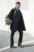 2013/03/19 Roma, parlamentari in Piazza Montecitorio. Nella foto Alessandro Di Battista.<br /> Rome, parliamentarians in Montecitorio Square. In the picture Alessandro Di Battista - &copy; PIERPAOLO SCAVUZZO