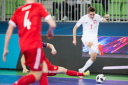 Mikolaj Zastawnik of Poland during futsal match between Russia and Poland at Day 1 of UEFA Futsal EURO 2018, on January 30, 2018 in Arena Stozice, Ljubljana, Slovenia. Photo by Urban Urbanc / Sportida