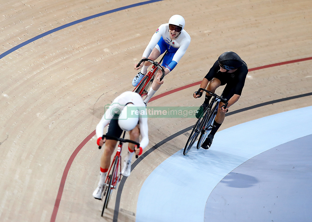 Scotland's Mark Stewart (back left) competes in the Men's 40km Points Race Final at the Anna Meares Velodrome during day four of the 2018 Commonwealth Games in the Gold Coast, Australia.