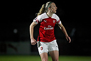 Arsenal defender Louise Quinn (16) during the FA Women's Super League match between Arsenal Women and Yeovil Town Women at Meadow Park, Borehamwood, United Kingdom on 20 February 2019.