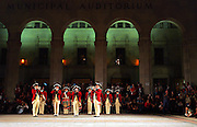 """METRO - The Old Guard Fife and Drum Corps perform Thursday, November 9, 2006 outside Municipal Auditorium. The San Antonio Symphony presented """"Salute to Service,"""" a free community concert after the fife and drum. BAHRAM MARK SOBHANI/STAFF"""