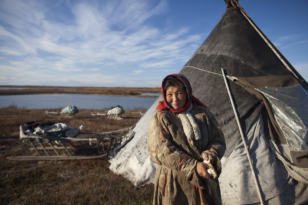 Sept 2009 Yamal Peninsula, Siberia, Russia - global warming impacts story on the Nenet people , reindeer herders in the Yamal Peninsula Bonia Vanuta