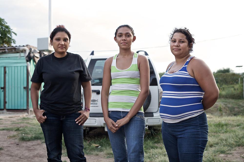 "three young migrants newly arrived to the shelter ""hermanos en el camino"".Ixtepec-Oxaca-Mexico,2011"