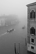 Italy. Venice. Elevated view. the grand canal in the fog  Venice - Italy   / le grand canal dans la brume  Venise - Italie   A