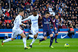 February 17, 2018 - Paris, France - Paris SG Midfield LO CELSO GIOVANI in action during the League 1 French championship match Paris SG against Strasbourg RC at the Parc des Princes Stadium in Paris - France..Paris SG won 5-2 (Credit Image: © Pierre Stevenin via ZUMA Wire)