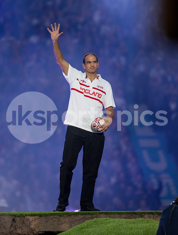 Ex World Cup winning Captain Martin Johnson at the opening ceremony during the Rugby World Cup 2015 Pool A match between England and Fiji played at Twickenham Stadium, London on 18 September 2015. Photo by Liam McAvoy.