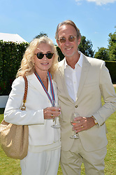 Mike Rutherford and Angie Rutherford at the Cartier Style et Luxe at the Goodwood Festival of Speed, Goodwood, West Sussex, England. 2 July 2017.<br /> Photo by Dominic O'Neill/SilverHub 0203 174 1069 sales@silverhubmedia.com
