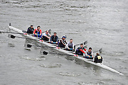 London, Great Britain.<br /> Masters A Team Keane.<br /> 2016 Veterans&rsquo; Head of the River Race, Reverse Championship Course Mortlake to Putney. River Thames. Sunday  20/03/2016<br /> <br /> [Mandatory Credit: Peter SPURRIER;Intersport images]